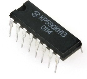 Фото 1/2 КР590КН13 (00-03г), 4-х канальный аналоговый ключ со схемой управления