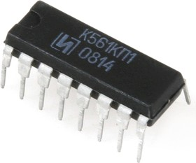 Фото 1/2 К561КП1 (00-11г), Двойной 4-х канальный мультиплексор