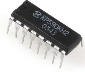 Фото 1/2 КР590КН2, 4-х канальный МОП-ключ со схемой управления