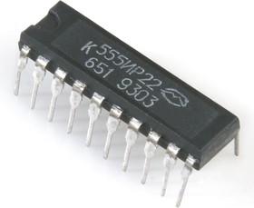 Фото 1/2 К555ИР22 (90-97г), 8-ми разрядный буферный регистр с потенциальным управлением (SN74LS373N)