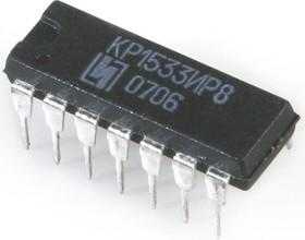 КР1533ИР8 (06-14г), 8-ми разрядный последовательный сдвиговый регистр с параллельным выходом (SN74ALS164N)