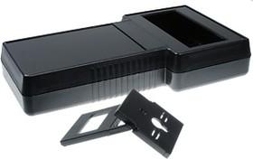 G858B(O), Корпус фигурный с отверстием под ЖКИ 237х131x45, пластик, черный