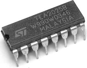 TEA2025B, Стереофонический аудиоусилитель 2 х 2.3Вт, 3В…15В, 4 Ом, [DIP-16] | купить в розницу и оптом