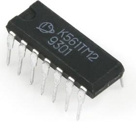 Фото 1/2 К561ТМ2 (90-97г), 2 D-триггера с динамическим управлением