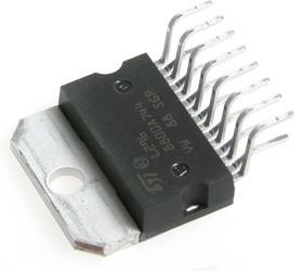 Фото 1/5 L296, Сильноточный импульсный регулятор напряжения ADJ 4A Step-Down [Multiwatt-15]