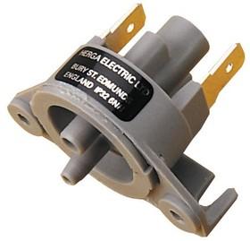 6753-AEJA-A000, Переключатель давления, 4мм Носик, 4.368 мбар, 6.832 мбар, SPST-NO, Панель / Шасси