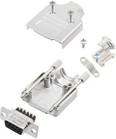 L17MHDM15+L77DA15SST, Разъем D Sub, W/ Backshell, Standard, Гнездо, MHDM Series, 15 контакт(-ов), DA, Винт
