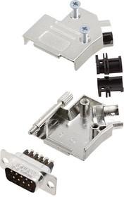 L17D45ZK15+L717DA15PST, Разъем D Sub, W/ Backshell, Standard, Штекер, D45ZK Series, 15 контакт(-ов), DA, Винт