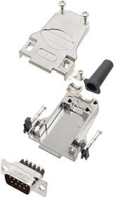 L17DTZF15-RG+L717DA15PST, Разъем D Sub, W/ Backshell, Standard, Штекер, DTZF-RG Series, 15 контакт(-ов), DA, Винт