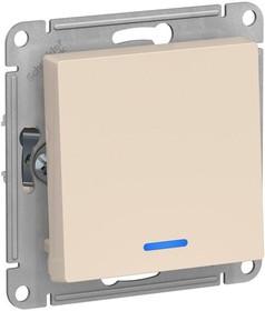 Фото 1/3 Механизм выключателя 1-кл. СП AtlasDesign 10А IP20 (сх. 1а) 10AX с подсветкой беж. SchE ATN000213