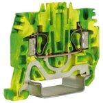 Зажим для заземления HTE.2 2.5кв.мм желт./зел. DKC ZHT500-RET