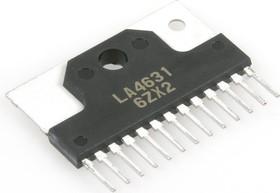 LA4631, Двухканальный аудиоусилитель, 5.5В…22В, 4 Ом, 60дБ, 20…20000Гц, [SIP-12H]