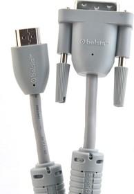 Фото 1/2 BW1460, Кабель HDMI вилка - DVI-D вилка с ф/фильтрами, 1.8 м