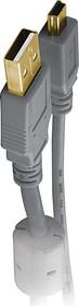 BW1557, Шнур мультимедийный USB2.0 A вилка - Mini USB B вилка, 1.8м