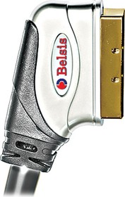 BW1578, Шнур межблочный SCART - SCART 21pin, GOLD 3м