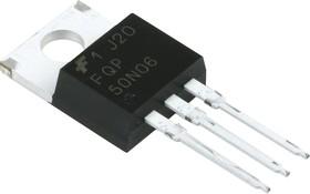 Фото 1/4 FQP50N06, Транзистор, N-канал 60В 52.4А [TO-220]