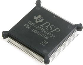 TMS320F240PQA, Цифровой сигнальный процессор, 16-Бит, C2xx DSP, 20МГц, Flash 32КБ, 28 I/O [QFP132]