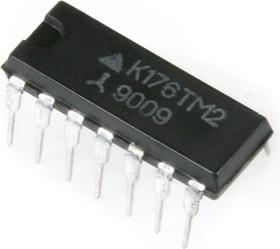 Фото 1/2 К176ТМ2, 2 D-триггера с динамическим управлением (CD4013E)