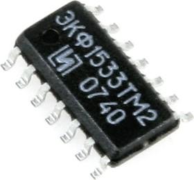 ЭКФ1533ТМ2 (98-10г), 2 триггера D-синхронных с дополняющими выходами (SN74ALS74AD)