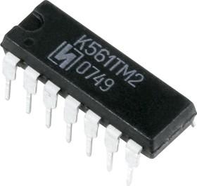 К561ТМ2 (00-16г), 2 D-триггера с динамическим управлением