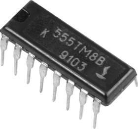 Фото 1/2 К555ТМ8В (90-97г), 4 D-триггера с прямыми и инверсными выходами