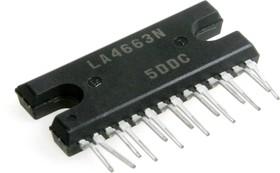 LA4663(N), Двухканальный мощный усилитель НЧ, бытовая аудиоэлектроника [HZIP-14]