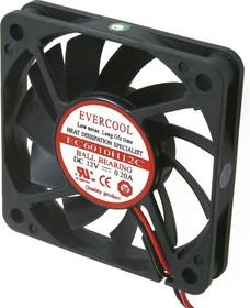 EC6010H12C, Вентилятор 60х60х10мм 12В , 1 подш. качения/1 подш. скольжения, 4400 об/мин
