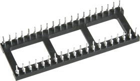 Фото 1/2 3-1571552-2 (840-AG11D-ESL-LF) (TRL-40), Панель DIP 40 цанговая широкая