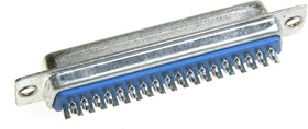 Фото 1/2 DB-37F (DS1033-37F), Гнездо 37 pin на кабель (пайка)