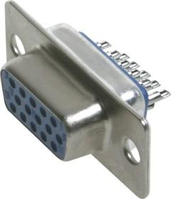 Фото 1/3 DHS-15F (DS1035-15F), Гнездо 15 pin высокой плотности на кабель
