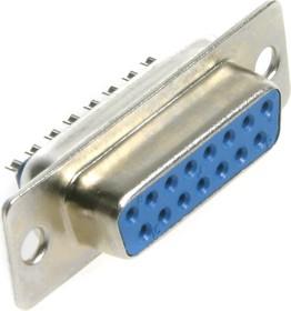 Фото 1/3 DB-15F (DS1033-15F), Гнездо 15 pin на кабель (пайка)