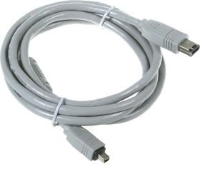 """BW1443, Шнур мультимедийный """"Fire Wire"""" IEEE 1394 4P вилка-6P вилка, 1.8м"""