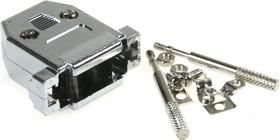 Фото 1/2 DNT-15C (DS1046-15 C1L), Корпус к 15pin, с удлиненными винтами, металлизированный