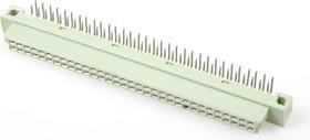 DIN41612R (DS1118-64F-R23), Розетка угловая 32х2, ряд AB, 64 контакта