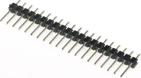 PLS-20 (DS1021-1x20), Вилка штыревая 2.54мм 1x20 прямая тип1 | купить в розницу и оптом