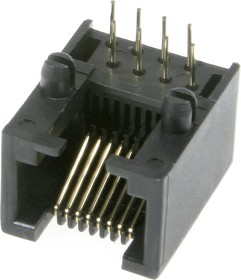 TJ4-8P8C, Розетка RJ45 телефонная на плату тип 4   купить в розницу и оптом