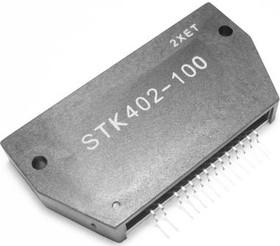 STK402-100, Двухканальный аудиоусилитель класса АВ 2 х 60Вт, 20…20000Гц, 6 Ом, ± 50В