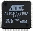 Фото 1/2 AT91M42800A-33AI, QFP144, 8Kb SRAM, Ind