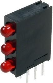 L-934SA/3ID 3 светодиода красный d=3мм 20мКд