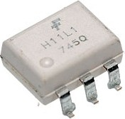 Фото 1/4 H11L1SR2M, Оптопара с выходом на триггере Шмитта [SMT-6]