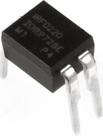 Фото 1/3 IRFD220PBF, Транзистор, N-канал 200В 0.8А [HD1]