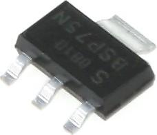 Фото 1/2 IRLL110PBF (IRLL110TRPBF), Транзистор, N-канал 100В 1.5А logic [SOT-223]