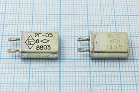 кварцевый резонатор 6.5МГц в корпусе с жёсткими выводами МВ, 6500 \МВ\\ 15\ 50/-60~85C\РГ05МВ-14ЕТ\1Г