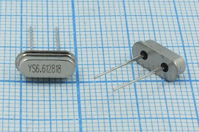 Фото 1/4 Кварц 6.6128МГц в низком корпусе SC49S с возможностью лёгкой трансформации в SMD, 6612,8 \SC49S3\18\ 15\ 30/-20~70C\SMD4H\1Г