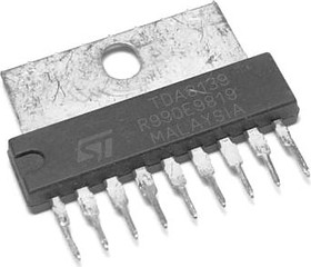 TDA8139, Стабилизатор напряжения с блокировкой и сбросом, 5.1В/регулируемый 2.8В…16В, [SIP-9]