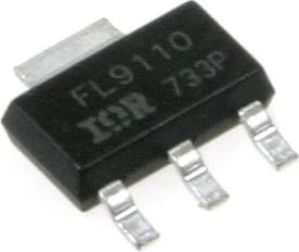 Фото 1/7 IRFL9110PBF (IRFL9110TRPBF) (FF), Транзистор, P-канал 100В 1.1А [SOT-223]