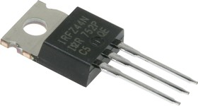 Фото 1/3 IRFZ44NPBF, Транзистор, N-канал 55В 41А [TO-220AB]