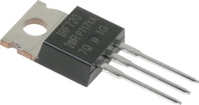 Фото 1/3 IRF720PBF, Транзистор, N-канал 400В 3.3А [TO-220AB]