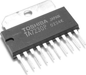 TA7230P, Двухканальный аудиоусилитель, 2 х 4Вт, 14В, 8 Ом, 48дБ