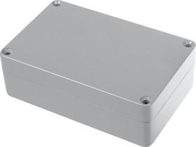 Фото 1/2 G107P, Корпус для РЭА 125x80x40мм окрашенный, металл, герметичный, серый